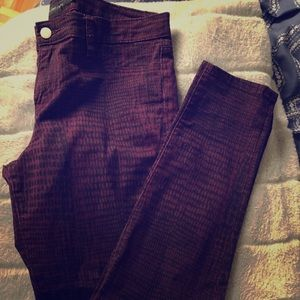 🌼2/$35 Calvin Klein Jeans maroon and black jeans
